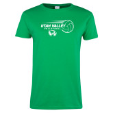 Ladies Kelly Green T Shirt-Wolverine Volleyball