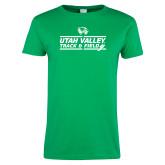 Ladies Kelly Green T Shirt-Wolverines Track & Field