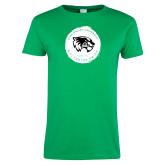 Ladies Kelly Green T Shirt-Wolverine Pride
