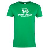 Ladies Kelly Green T Shirt-Wrestling