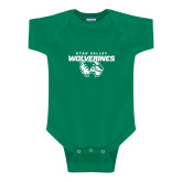 Kelly Green Infant Onesie-Secondary Logo