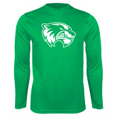 Performance Kelly Green Longsleeve Shirt-Primary Logo