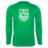 Performance Kelly Green Longsleeve Shirt-UVU Soccer