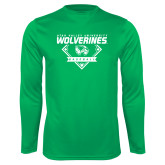 Performance Kelly Green Longsleeve Shirt-UVU Baseball