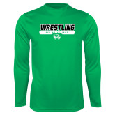Performance Kelly Green Longsleeve Shirt-UVU Wrestling