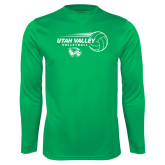 Performance Kelly Green Longsleeve Shirt-Wolverine Volleyball
