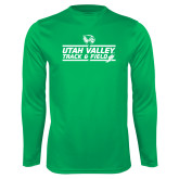 Performance Kelly Green Longsleeve Shirt-Wolverines Track & Field