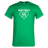 Kelly Green T Shirt-Wolverine Softball