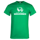 Kelly Green T Shirt-Utah Valley Wolverines Logo