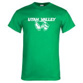 Kelly Green T Shirt-Utah Valley Logo