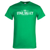 Kelly Green T Shirt-Utah Valley Since 1941