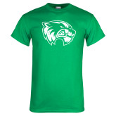 Kelly Green T Shirt-Wolverine Logo Distressed