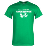 Kelly Green T Shirt-UVU Wolverines Distressed