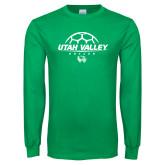 Kelly Green Long Sleeve T Shirt-Wolverines Soccer