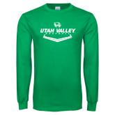 Kelly Green Long Sleeve T Shirt-Wolverines Baseball