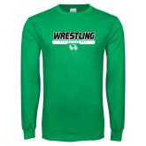 Kelly Green Long Sleeve T Shirt-UVU Wrestling