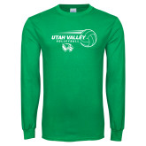 Kelly Green Long Sleeve T Shirt-Wolverine Volleyball