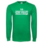 Kelly Green Long Sleeve T Shirt-Wolverines Track & Field