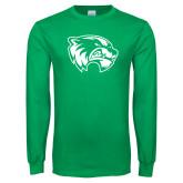 Kelly Green Long Sleeve T Shirt-Primary Logo