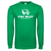 Kelly Green Long Sleeve T Shirt-Utah Valley University