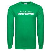 Kelly Green Long Sleeve T Shirt-Utah Valley Wolverines