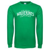 Kelly Green Long Sleeve T Shirt-Utah Valley Wolverines Est 1941