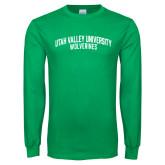 Kelly Green Long Sleeve T Shirt-UVU Collegiate