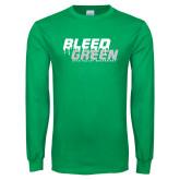 Kelly Green Long Sleeve T Shirt-Bleed Green