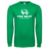 Kelly Green Long Sleeve T Shirt-Basketball