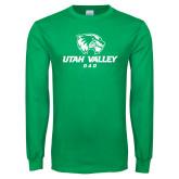 Kelly Green Long Sleeve T Shirt-Dad