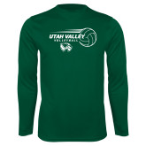 Performance Dark Green Longsleeve Shirt-Wolverine Volleyball