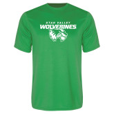 Performance Kelly Green Tee-Secondary Logo