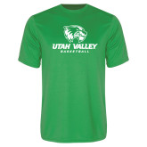 Performance Kelly Green Tee-Basketball