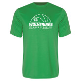 Performance Kelly Green Tee-UVU Basketball