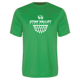 Performance Kelly Green Tee-Wolverines Basketball