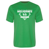 Performance Kelly Green Tee-UVU Baseball