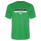 Performance Kelly Green Tee-UVU Wrestling