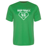 Performance Kelly Green Tee-Wolverine Softball