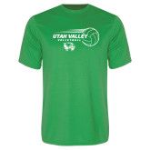 Performance Kelly Green Tee-Wolverine Volleyball