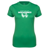 Ladies Syntrel Performance Kelly Green Tee-Secondary Logo