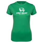 Ladies Syntrel Performance Kelly Green Tee-Softball
