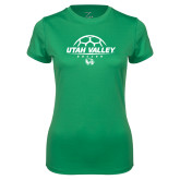 Ladies Syntrel Performance Kelly Green Tee-Wolverines Soccer