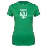 Ladies Syntrel Performance Kelly Green Tee-UVU Soccer