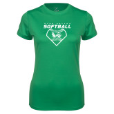 Ladies Syntrel Performance Kelly Green Tee-Wolverine Softball