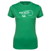 Ladies Syntrel Performance Kelly Green Tee-Wolverine Volleyball