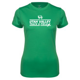Ladies Syntrel Performance Kelly Green Tee-Wolverines Track & Field