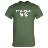 Military Green T Shirt-Utah Valley Logo