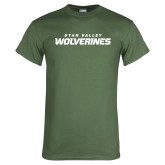 Military Green T Shirt-Utah Valley Wolverines