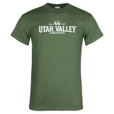 Military Green T Shirt-Utah Valley Since 1941