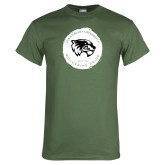 Military Green T Shirt-Wolverine Pride
